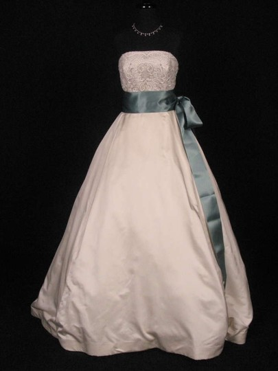 Teal Green Ribbon Sash