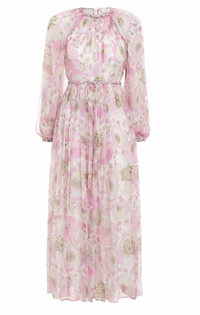 Item - Nwot Silk Floral Print Long Casual Maxi Dress Size 6 (S)