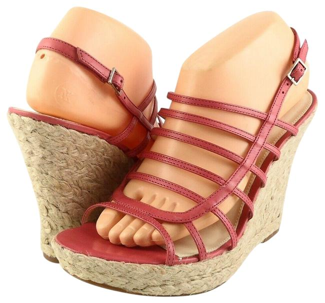 Item - Fuchsia Tandy Strappy Leather Espadrille Wedge Sandals Size US 9 Regular (M, B)