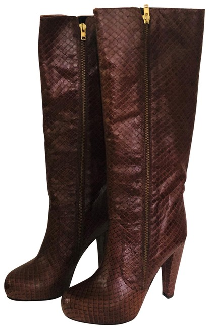 Item - Chocolate New Piper Anaconda Boots/Booties Size US 6.5 Regular (M, B)