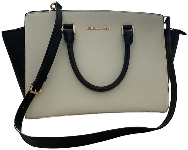 Item - And Black & White Leather Tote