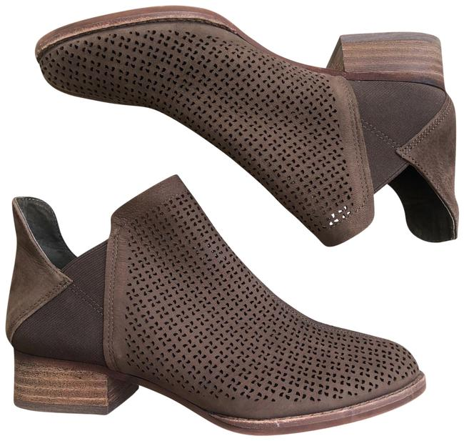 Item - Brown Lasercut Perforated Ankle Boots/Booties Size US 5.5 Regular (M, B)