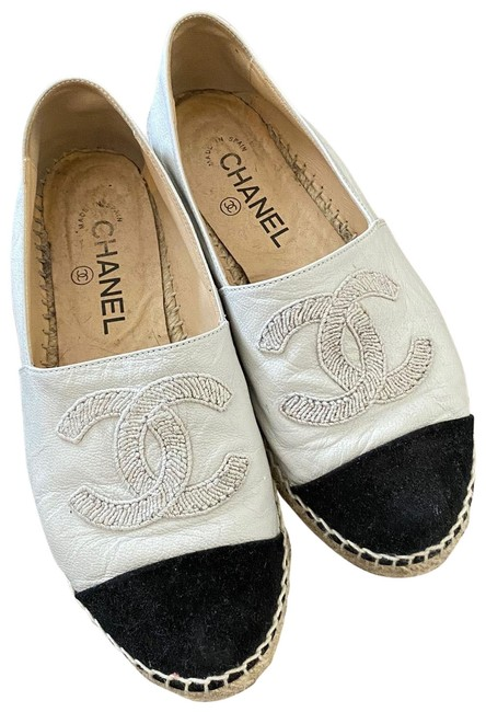 Item - Black & White Espadrilles Flats Size EU 37 (Approx. US 7) Regular (M, B)