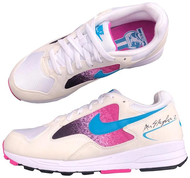 Item - White Women's Air Skylone Ii Blue Lagoon Encapsulated Air Sole Unit For Cushioned Comfort. Phylon Foam Midsole Sneakers Size US 8.5 Narrow (Aa, N)