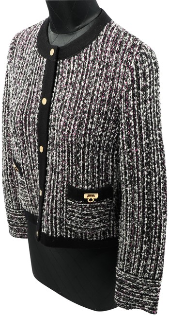 Item - Multi-colored Women's Tweed Wool-blend Jacket Cardigan Size 4 (S)
