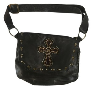 Leather Rhinestone Shoulder Bag