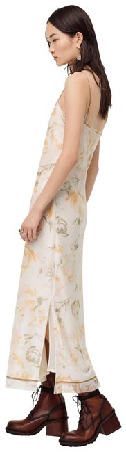 Item - White L Limited Edition Sequinned Floral Print Color Nwt. Long Night Out Dress Size 12 (L)