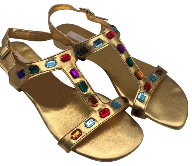 Item - Gold 80's Sandals Size US 10 Regular (M, B)