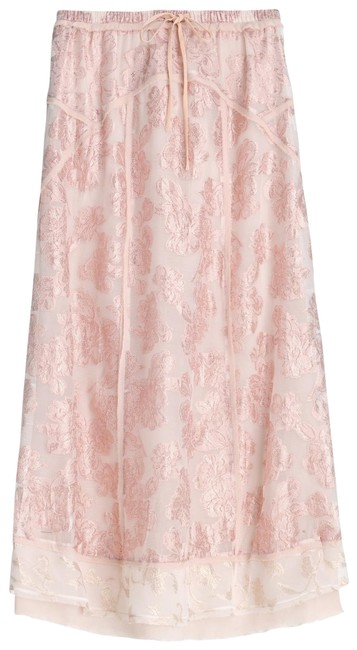 Item - Pink W Limited Edition Embroidered Long W/ Metallic Thread Nwt. Skirt Size 8 (M, 29, 30)