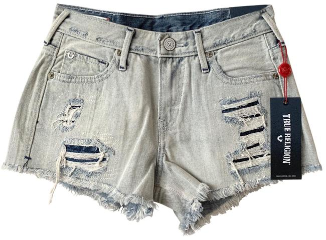 Item - Acid High Rise Distressed Denim Shorts Size 00 (XXS, 24)