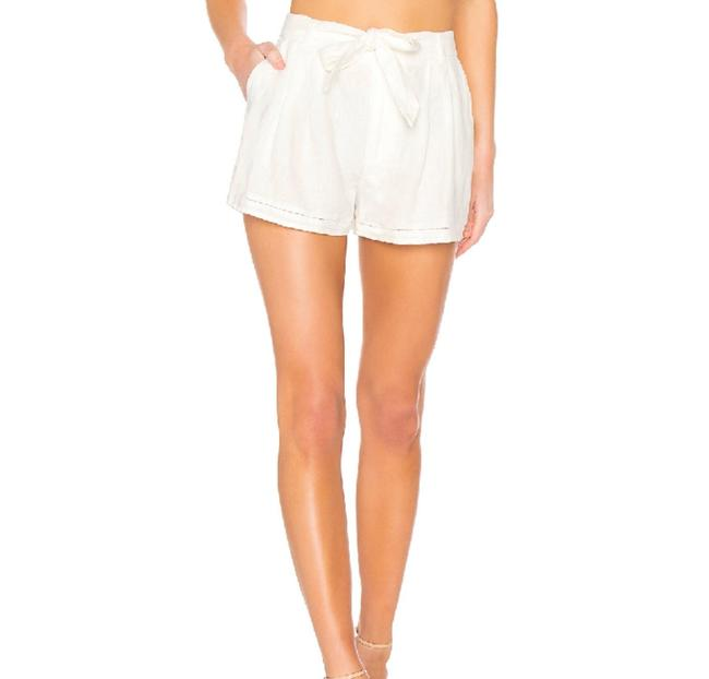 Item - White Belted Linen Pocket Shorts Size 2 (XS, 26)