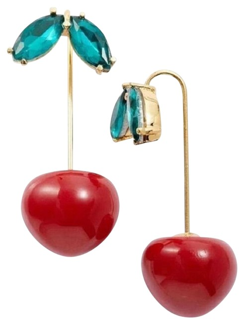 Item - Red and Green Ma Chérie Cherry Hanger Earrings