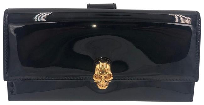 Item - Black Patent Leather Skull-clasp Wallet