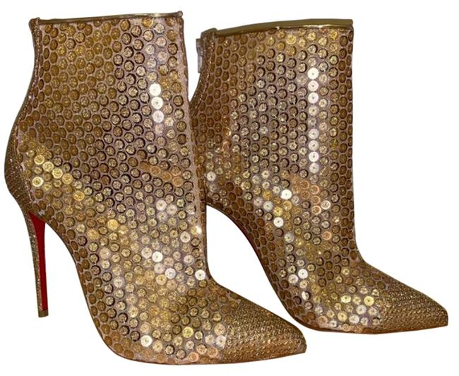 Item - Gold Gipsybootie Sequin Glitter Ankle Boots/Booties Size EU 36 (Approx. US 6) Regular (M, B)