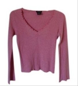 Calvin Klein Pink Longsleeve Lightweight Casual Knit T Shirt Light pink