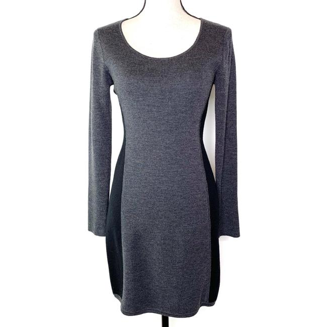 Item - Gray and Black Freida Eloquence Sweater Mid-length Work/Office Dress Size 8 (M)