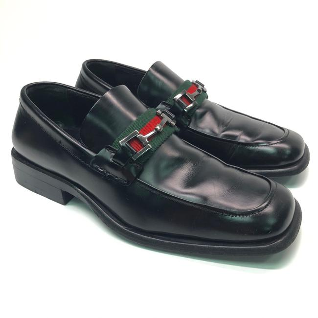 Gucci Black W Mens Patent Leather Loafers / Logo Flats Size US 8 Regular (M, B) Gucci Black W Mens Patent Leather Loafers / Logo Flats Size US 8 Regular (M, B) Image 1