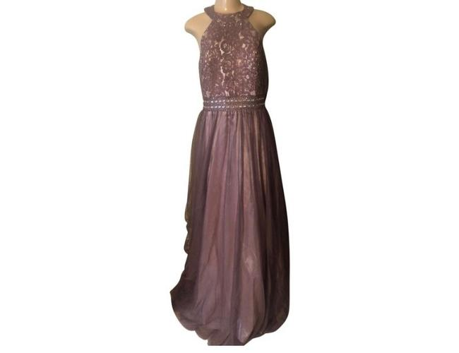 Windsor Taupe Ball Gown Modern Wedding Dress Size 12 (L) Windsor Taupe Ball Gown Modern Wedding Dress Size 12 (L) Image 1