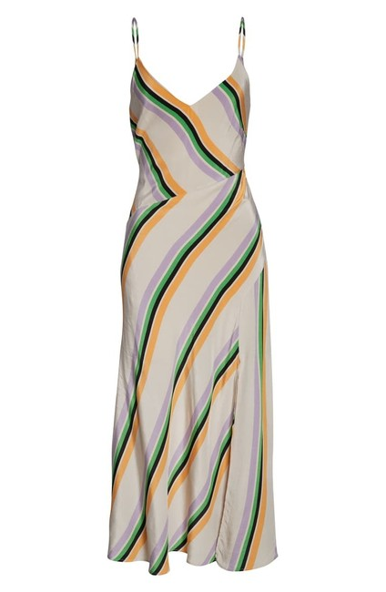 Item - Taupe with Multi Color Stripe Jessi Mid-length Casual Maxi Dress Size 8 (M)