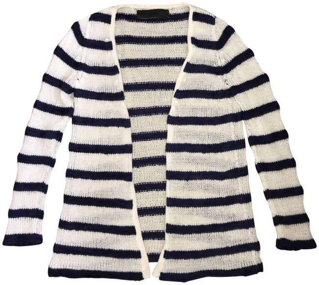 Item - Blue and White Cardigan Size 0 (XS)