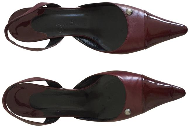 Item - Burgundy Sling Back Pumps Size US 8.5 Regular (M, B)