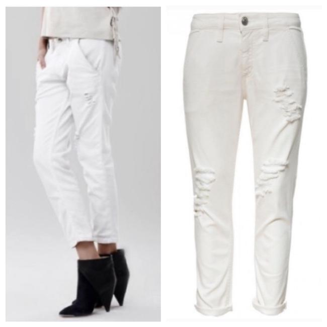 Item - White Light Wash Distressed Relaxed Fit Jeans Size 6 (S, 28)