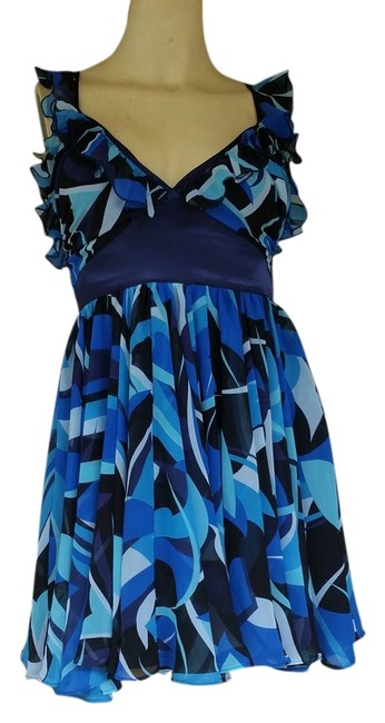 Arden B short dress Blue Mini Chiffon on Tradesy