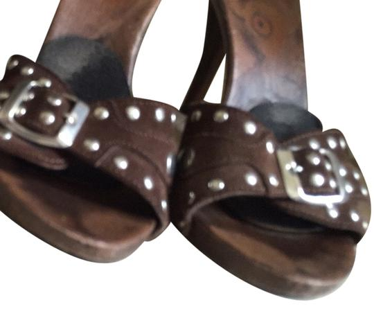 Aldo Brown With Silver Sandals