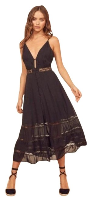 Item - Black Shelley In Mid-length Casual Maxi Dress Size 12 (L)