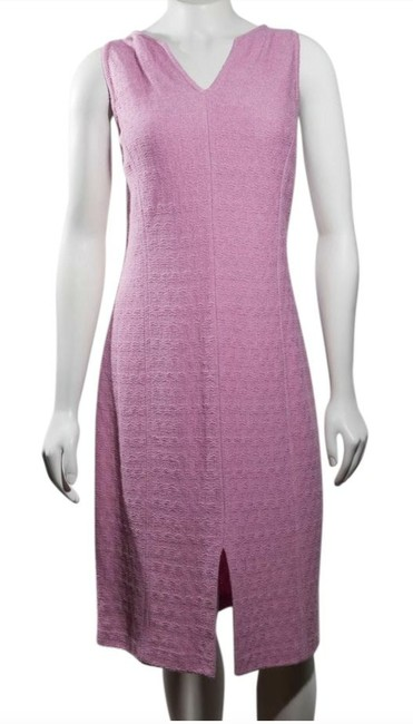 Item - Pink New Collection Medium Shima Knit Work/Office Mid-length Work/Office Dress Size 8 (M)