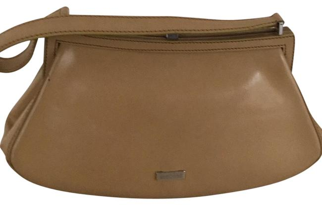 Item - Beige Leather Baguette
