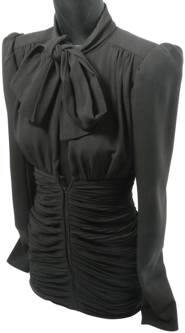 Item - Black Yves Woman's Tie-up Short Cocktail Dress Size 2 (XS)