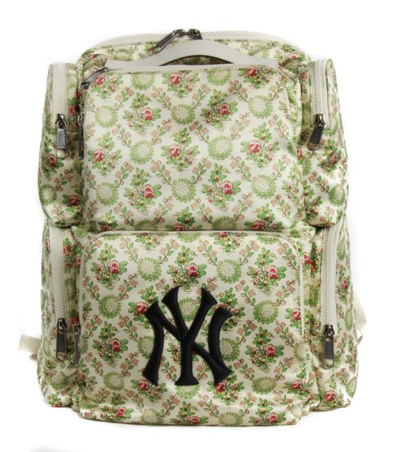 Item - New 536743 Ny Yankees Patch Silk Floral Large Multicolor Satin Backpack