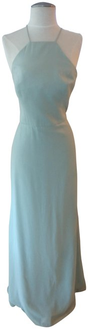 Dessy Celadon Silver Style # 6762ls - Lux Shimmer Long Formal Dress Size 8 (M) Dessy Celadon Silver Style # 6762ls - Lux Shimmer Long Formal Dress Size 8 (M) Image 1