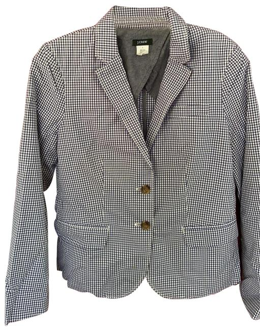 Item - Blue and White Gingham Blazer Size 4 (S)
