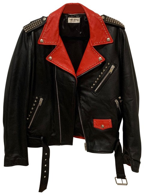 Item - Black and Red Sunset Motorcycle Dégradé In Jacket Size 10 (M)