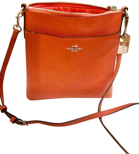 Item - Small Town Persimmon Leather Cross Body Bag