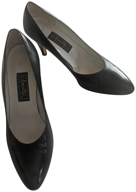 Item - Black Patty Pumps Size US 8.5 Regular (M, B)