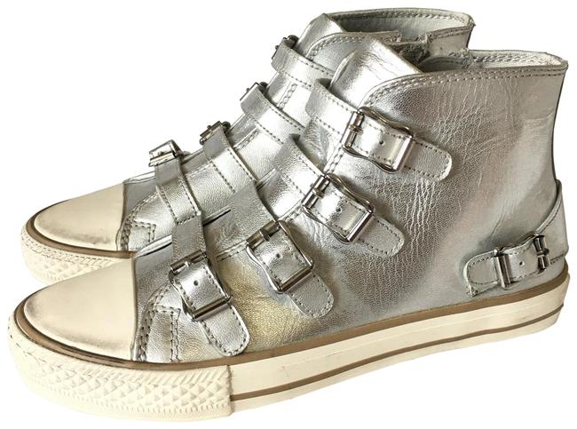 Item - Silver White Kids Vava Gold Metall Sneakers Size EU 35 (Approx. US 5) Regular (M, B)