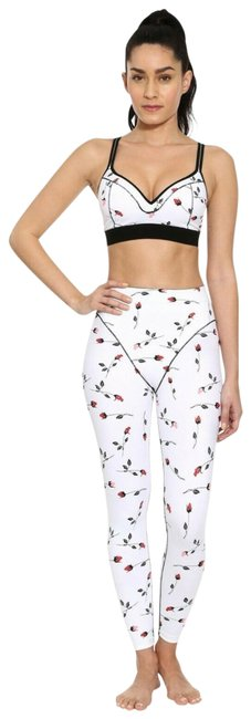 Item - White Sport Rose French Cut Activewear Bottoms Size 12 (L, 32, 33)
