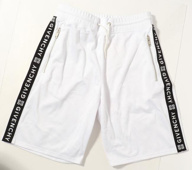 Item - White Jersey Shorts with Logo Side Bands