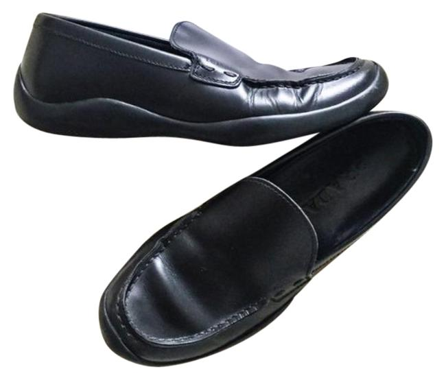 Item - Black Rubber Sole Loafer Flats Size EU 38.5 (Approx. US 8.5) Regular (M, B)