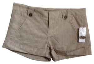 GAP Cuffed Shorts Beige Stripe