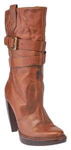 Michael by Michael Kors Leather Mid-calf Brown Boots
