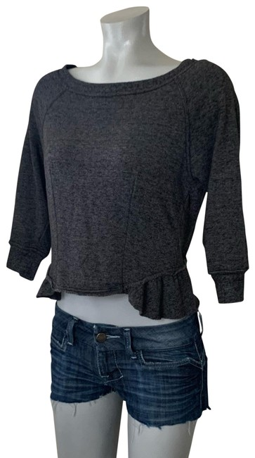 Item - Charcoal Grey Crop Sweatshirt/Hoodie Size 6 (S)