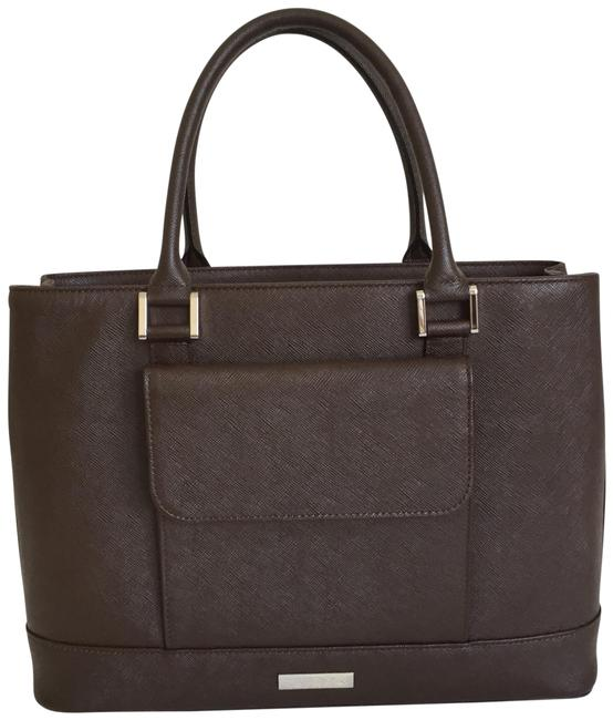Item - Front Pocket Brown Leather Tote