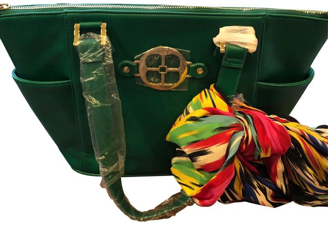 Global Chic Collection. Green Leather Satchel Global Chic Collection. Green Leather Satchel Image 1