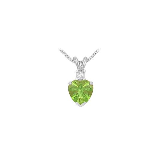 Preload https://img-static.tradesy.com/item/27638928/green-diamond-and-peridot-heart-pendant-in-14k-white-gold-necklace-0-0-540-540.jpg
