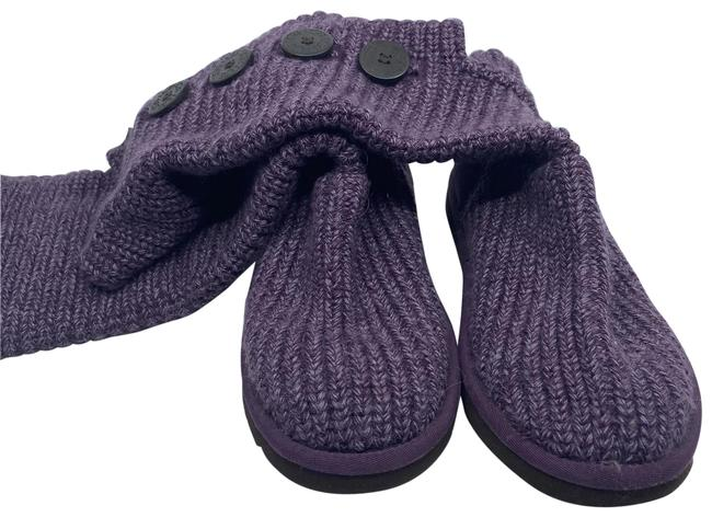 Item - Purple Knitted Special Boots/Booties Size US 5 Regular (M, B)