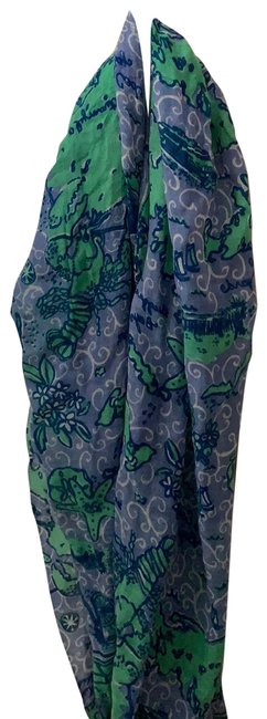 Item - Blue and Green Murfee Scarf/Wrap